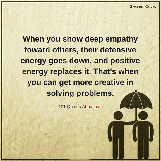 When You Show Deep Empathy Toward Others Their Defensive Energy