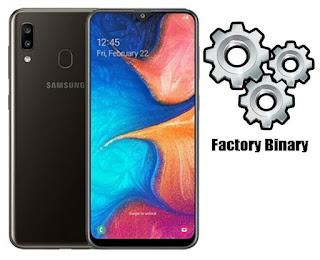 Samsung Galaxy A20 SM-A205F Combination Firmware