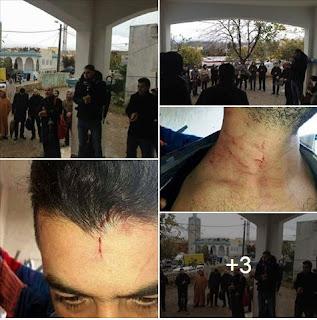 وقفة أساتذة الثانوية الاعدادية والتأهيلية اليوم بباب تازة بعد تعرض أستاذ لاعتداء