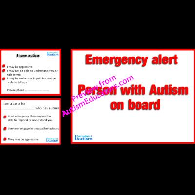 Free printable autism emergency alert cards