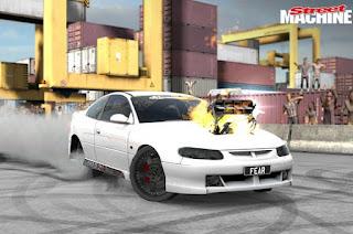 Torque Burnout Mod White Car