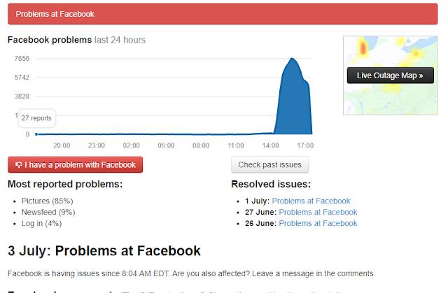 Facebook está com problemas