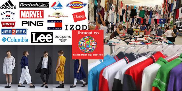 ihraç fazlası tekstil ürünleri