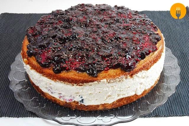 receta pastel casero frutos bosque
