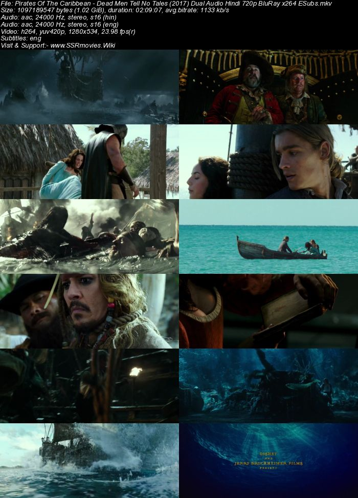 Pirates Of The Caribbean 5 (2017) Dual Audio Hindi 720p BluRay ESubs Movie Download