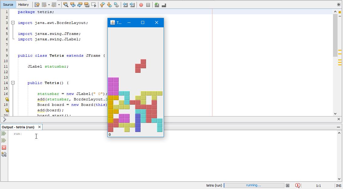 Zetcode Tetris