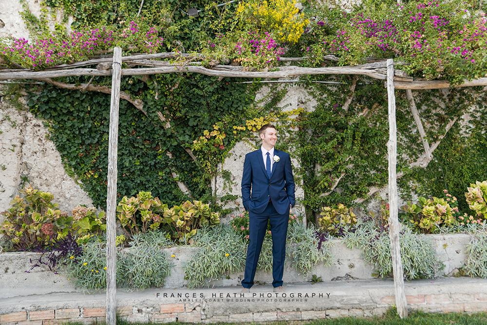 Garden groom portrait