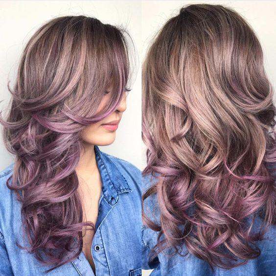 cor Mauve nos cabelos para o verão!