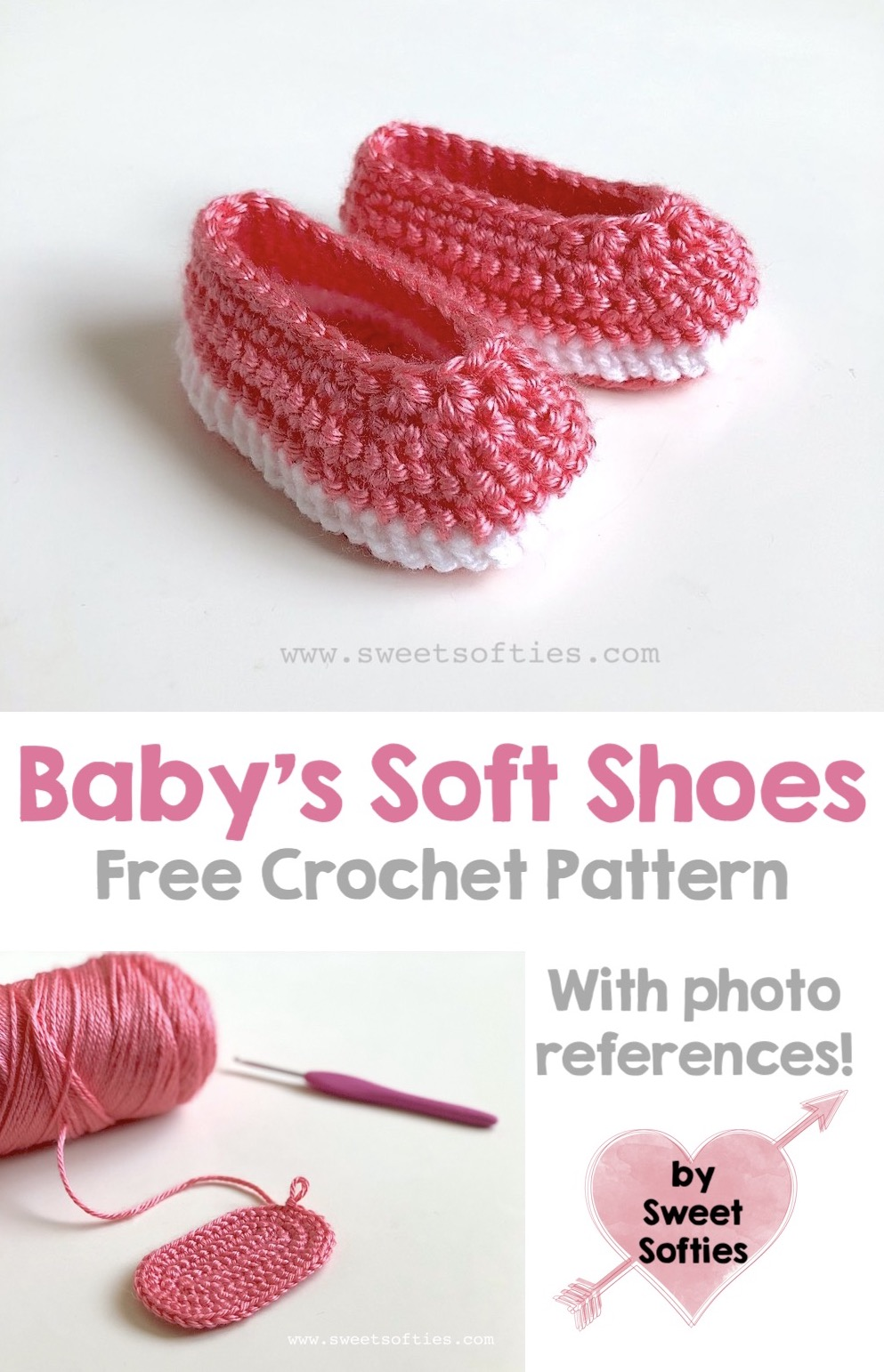 Baby's Soft Shoes (Free Crochet Pattern) - Sweet Softies