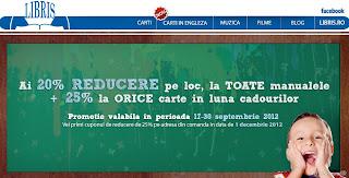 reducere 20% la toate manualele, libris.ro