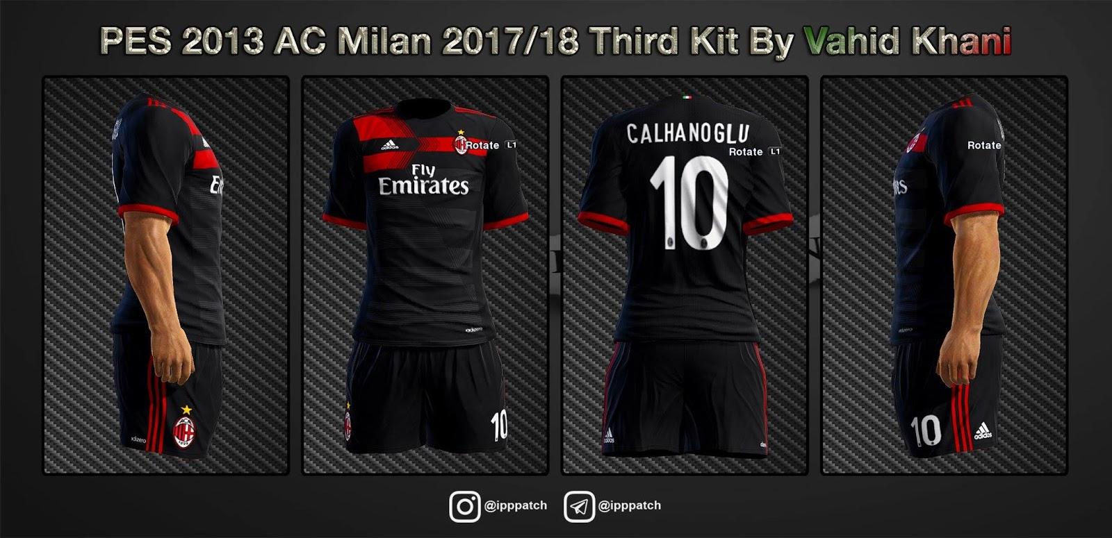 Pes-modif: PES 2013 AC Milan 2017/18 Third Kit By Vahid_Khani
