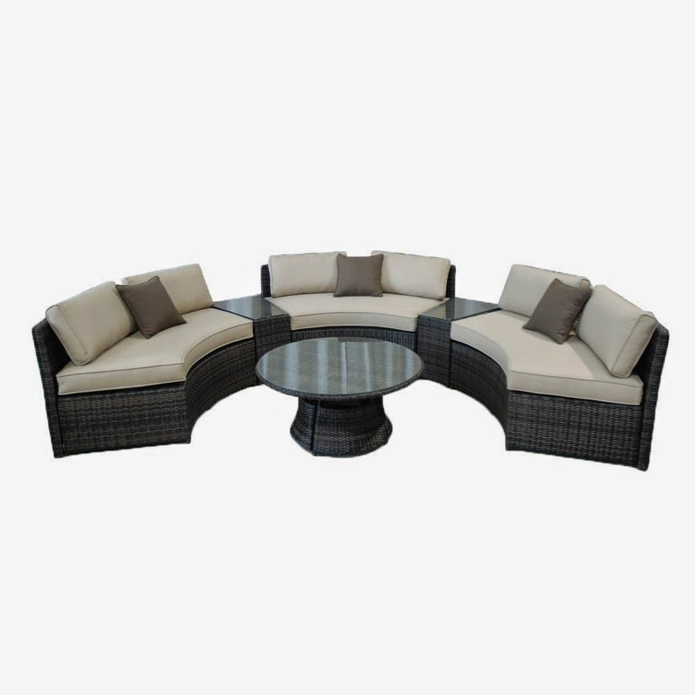 Curved sofa curved outdoor sofa for Curved sofa table for sectional