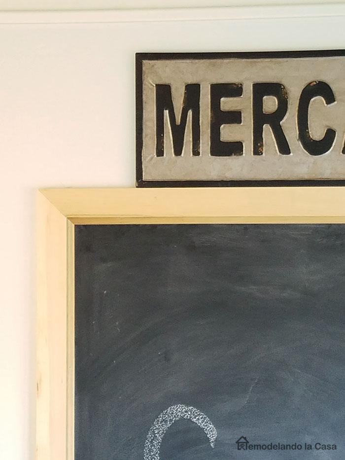 mitered corners on chalkboard frame