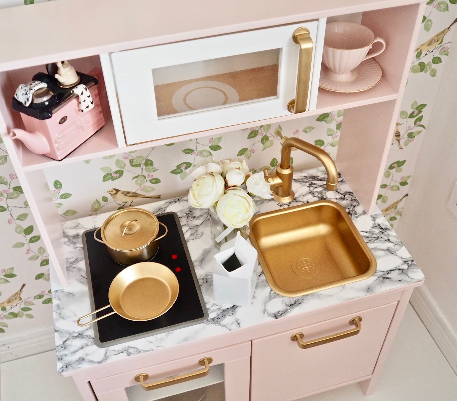 Kid Kitchens Long Kitchen Island With Seating Ikea Duktig Play Makeover Dainty Dress Diaries I Have Put Together A Youtube Video Also On How Transformed My Mini Will Make Sure To Link The At Bottom Of This Post