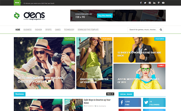 The Dens Responsive Blogger Template Free Download