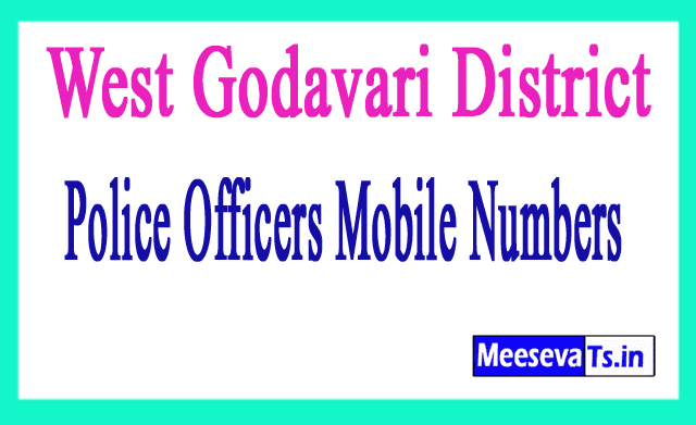 West Godavari District Police Officers Mobile Numbers
