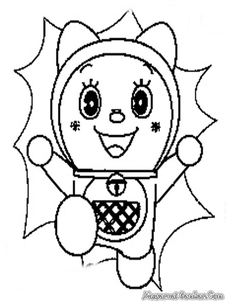 Mewarnai Gambar Doraemon Mewarnai Gambar
