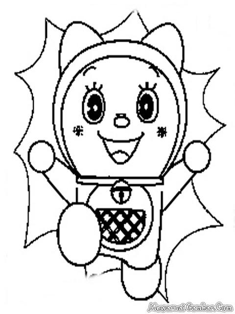 Gambar Kartun Dorami Untuk Diwarnai