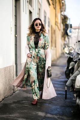 Completo kimono e pantaloni foto Pinterest