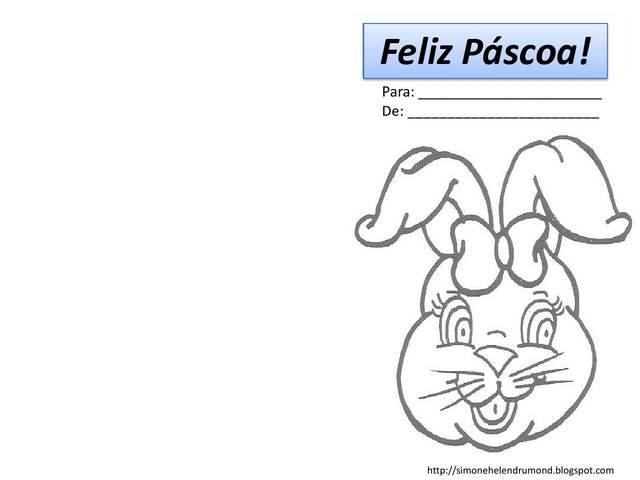 cartao de pascoa | coelho da pascoa