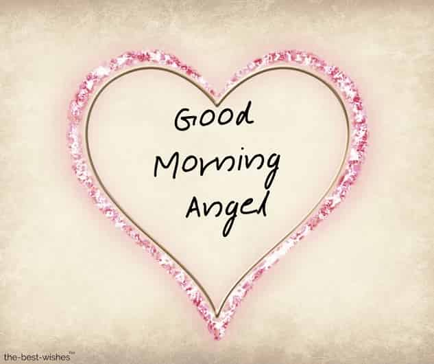 good morning my angel pictures