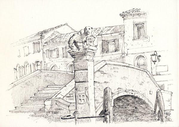 Scarabocchi Per La Strada Venezia In Bianco E Nero
