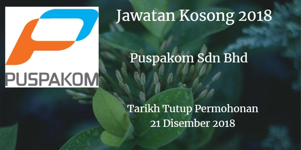 Jawatan Kosong Puspakom Sdn Bhd 21 Disember 2018