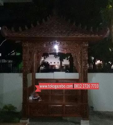 Gazebo Full Ukiran Jepara Jati