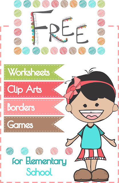 Free Printables Clip Arts Borders Worksheets Games for Elementary School