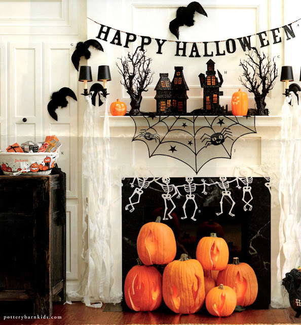 pottery+barn+halloween+inspiration Pottery Barn Inspired Flaming Pumpkins #spookyspaces 7