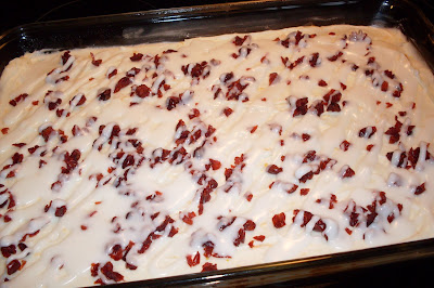 Cranberry Bliss Bars, homemade and delicious.