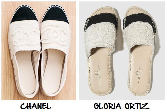 Clon alpargatas Chanel Gloria Ortiz