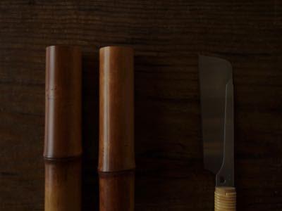 上質の煤竹と鋸