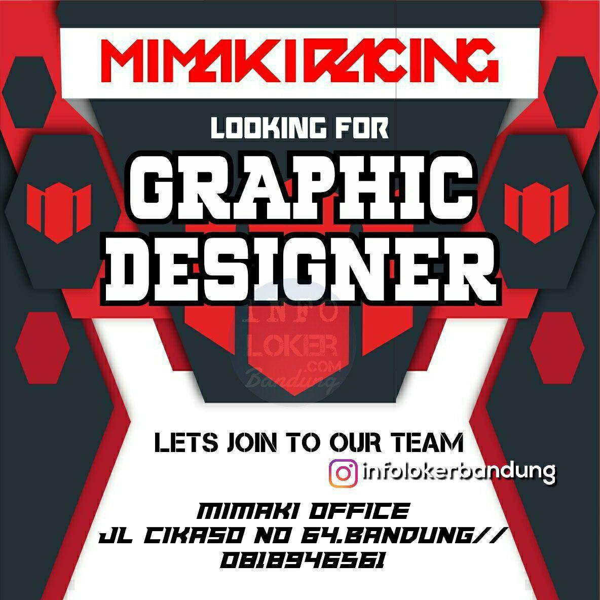 Lowongan Kerja Graphic Designer Mimaki Racing Bandung November 2018