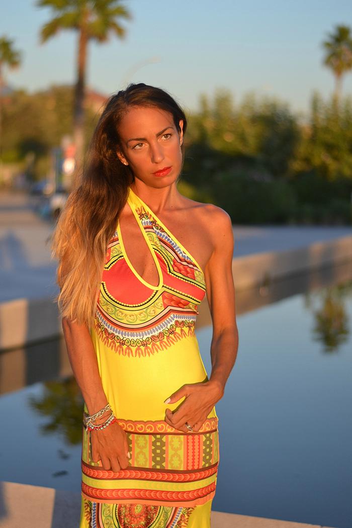 maxi dress etnico