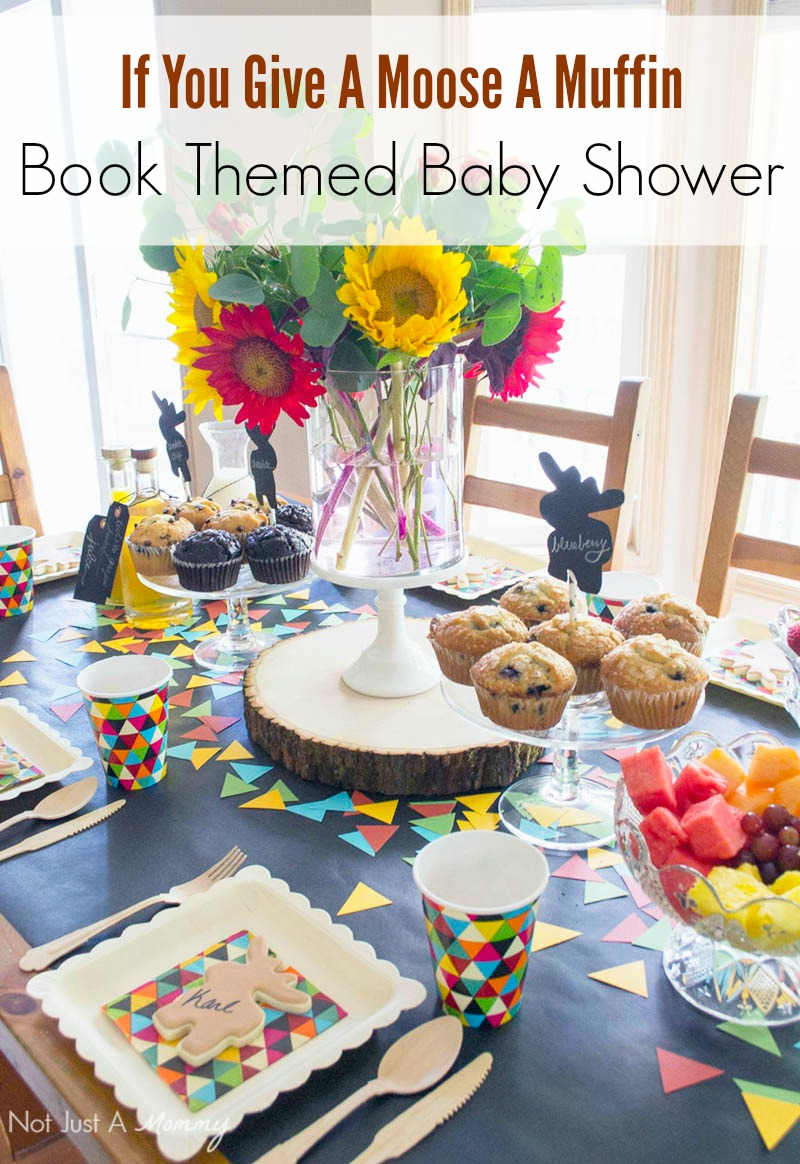 If You Give A Moose A Muffin themed baby shower