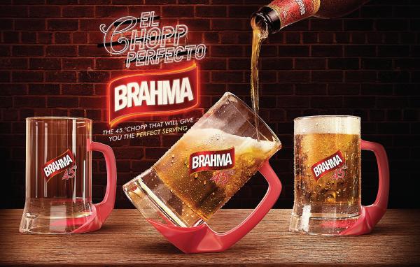 Diseño de envase de cerveza Brahma