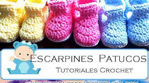 Zapatitos Crochet para Bebés / 3 tutoriales en español