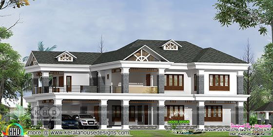 5 bedroom Colonial home design