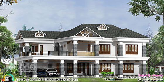 5 bedroom Colonial home design