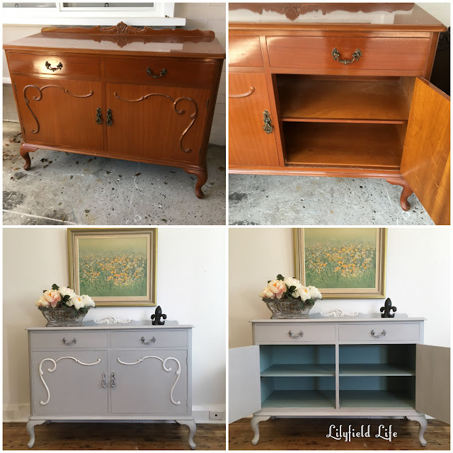 french style sideboard painted in ASCP chalk paint by Lilyfield Life