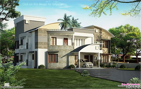 cute luxury villa design