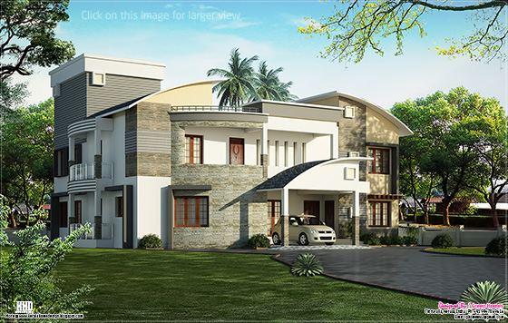 cute luxury villa design