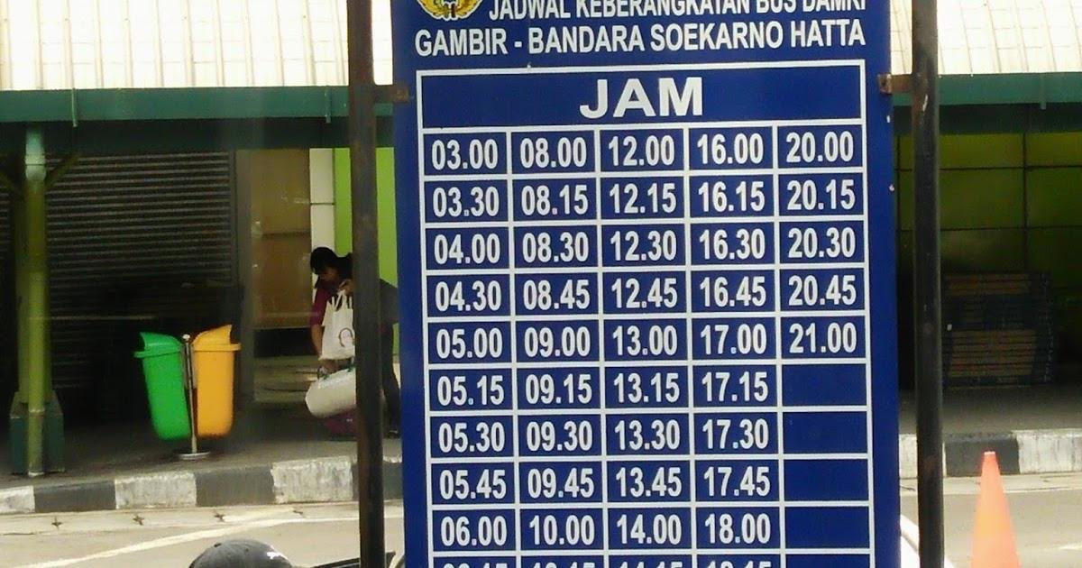 Jadwal Bus Damri Dari Gambir Ke Bandara Soekarno Hatta Tujuhrupa Com