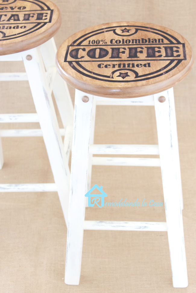 Kitchen stools makeover