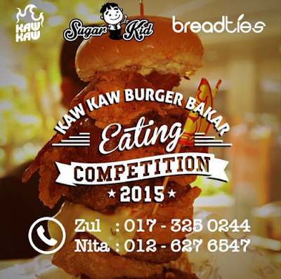 KAW KAW BURGER BAKAR EATING COMPETITION 2015