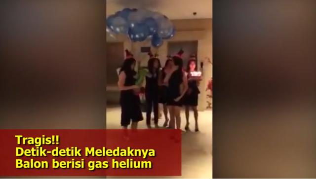 Astagfirullah, Balon Helium Meledak Dan Akhirnya Pesta Meriah Berubah Menjadi Bencana