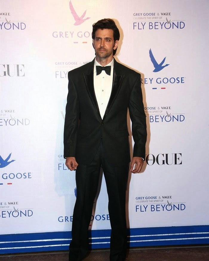 Hrithik Roshan, Pics from Red Carpet of Grey Goose & Vogue's Fly Beyond Awards 2014