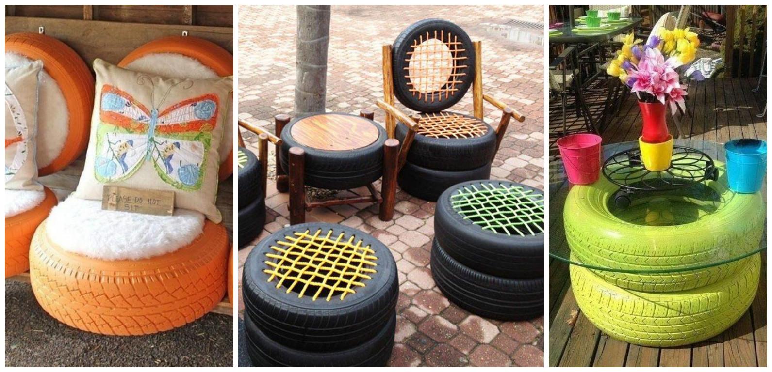 10 ideas incre bles para reciclar llantas viejas de autos for Ideas para decorar el jardin con llantas