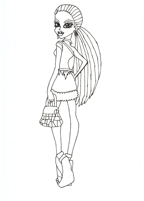 Top 27 Monster High Coloring Pages For Your Little Ones | Coloring ... | 640x458